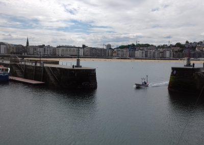 Estabilización en la bocana del puerto de Donostia