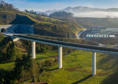 Plataforma nueva red ferroviaria del PV: Zizurkil-Andoain